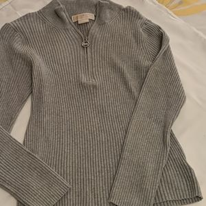 Michael Kors ribbed gray top. Small/med